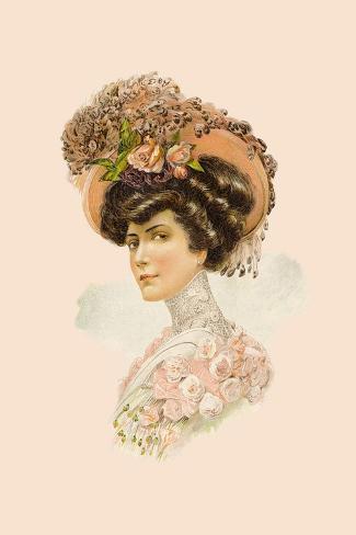 The Rose Hat Wandtattoo