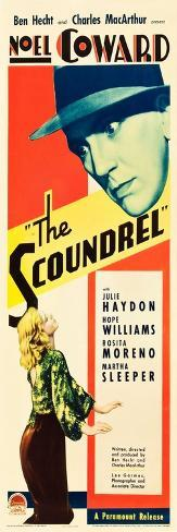 THE SCOUNDREL, top: Noel Coward, bottom: Julie Haydon on insert poster art, 1935 Kunstdruck