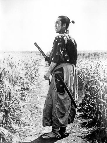 The Seven Samurai, (aka Shichinin No Samurai), Seiji Miyaguchi, 1954 Foto