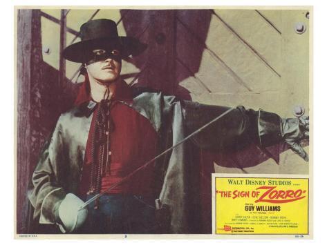 The Sign of Zorro, 1960 Kunstdruck