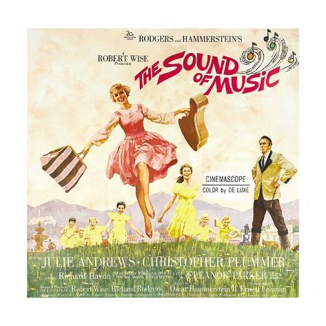 The Sound of Music, from Left: Julie Andrews, Christopher Plummer, 1965 Giclée-Druck