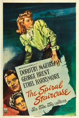 The Spiral Staircase, Dorothy McGuire, George Brent, Ethel Barrymore, 1945 Kunstdruck