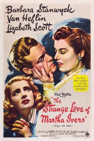 THE STRANGE LOVE OF MARTHA IVERS, Barbara Stanwyck, Van Heflin, Lizabeth Scott, 1946 Kunstdruck
