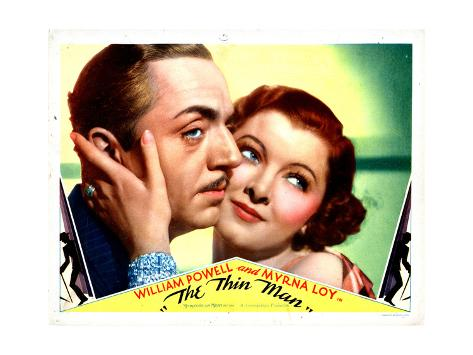 The Thin Man, William Powell, Myrna Loy, 1934 Giclée-Druck