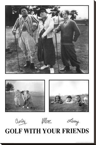 The Three Stooges Bedruckte aufgespannte Leinwand