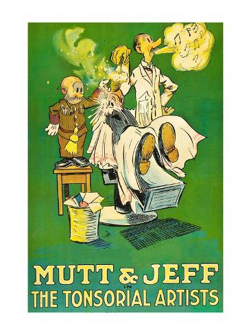 The Tonsorial Artists, Mutt and Jeff Giclée-Premiumdruck