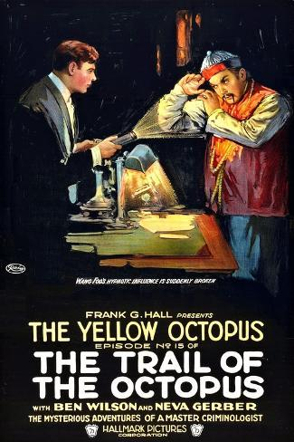 The Trail of the Octopus, Ben Wilson in 'Episode No. 15: The Yellow Octopus', 1919 Giclée-Premiumdruck