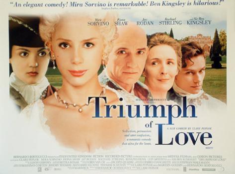 The Triumph Of Love Originalposter