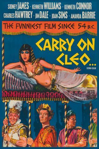 Carry on Cleo Bedruckte aufgespannte Leinwand