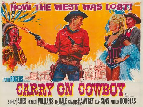 Carry on Cowboy Giclée-Druck