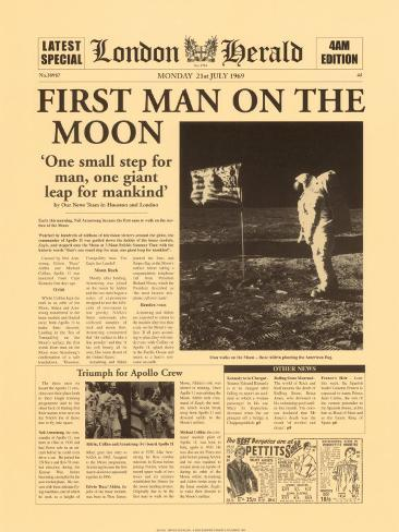 First Man on the Moon Kunstdruck