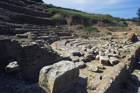 Theatre of Ancient Scolacium, Roccelletta Di Borgia, Calabria, Italy Giclée-Druck