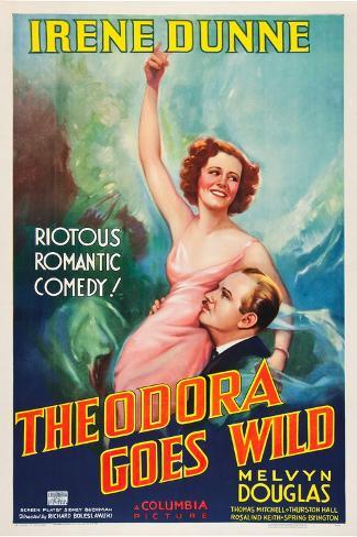 Theodora wird wild Kunstdruck