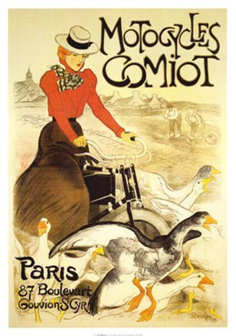 Comiot-Motorräder Kunstdruck