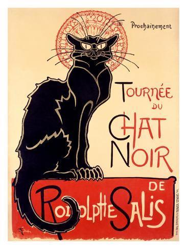 Tournee der schwarzen Katze, ca. 1896 Giclée-Druck
