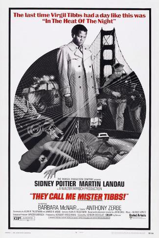 They Call Me Mister Tibbs!, Sidney Poitier, 1970 Kunstdruck