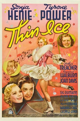 Thin Ice, Sonja Henie, Tyrone Power, Arthur Treacher, Joan Davis, 1937 Kunstdruck