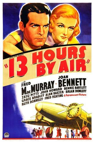 THIRTEEN HOURS BY AIR (aka 13 HOURS BY AIR) Kunstdruck