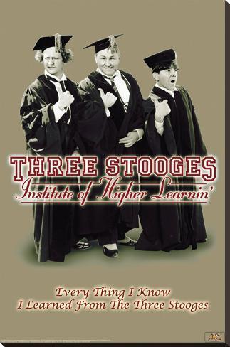 Three Stooges - Higher Learnin Bedruckte aufgespannte Leinwand