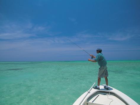 Bone Fishing, Grand Cayman Fotografie-Druck