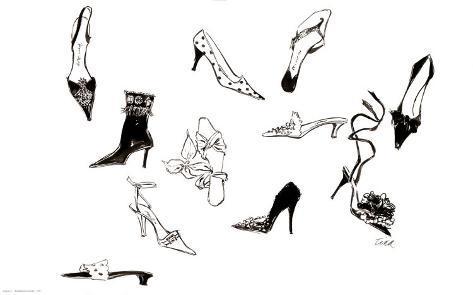 Zehn Schuhe Kunstdruck