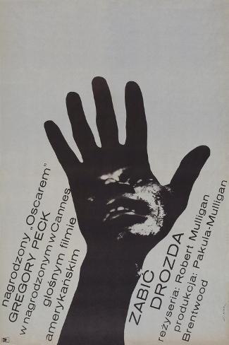 To Kill a Mockingbird, (Zabic Drozda), Polish poster, Brock Peters, 1962 Kunstdruck