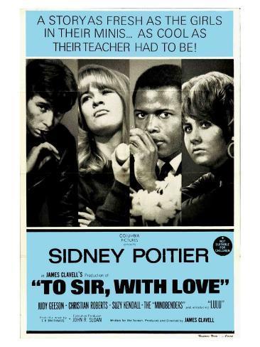 To Sir With Love, Australian Movie Poster, 1967 Kunstdruck