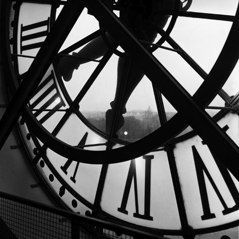 Die Uhr des Musée d'Orsay Kunstdruck