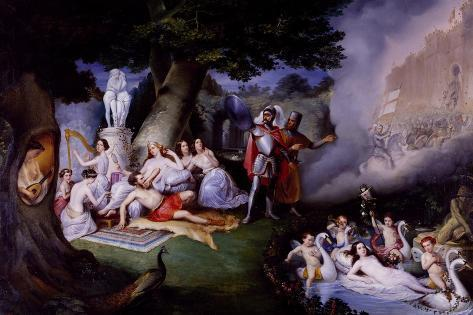 Rinaldo in Garden of Armida, Scene from Jerusalem Delivered Giclée-Druck