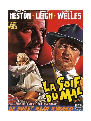 Touch of Evil, (aka La Soif Du Mal), Janet Leigh, Charlton Heston, Orson Welles, 1958 Giclée-Druck