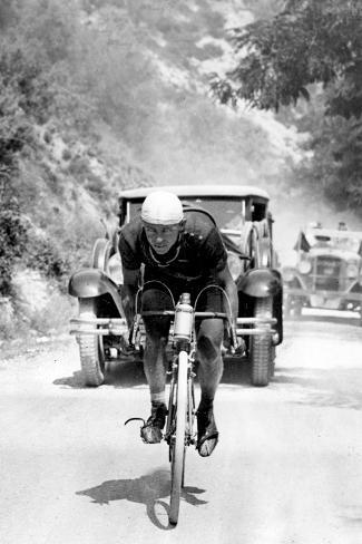 Tour De France 1929, 13th Leg Cannes/Nice on July 16 : Benoit Faure on the Braus Pass Foto