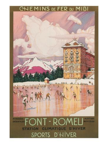 Travel Poster for Font-Romeu, France Kunstdruck