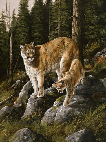 Mother and Child (Mt. Lions) Giclée-Druck