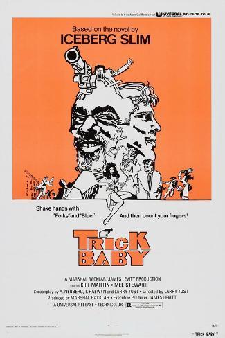 TRICK BABY, US poster, 1973 Kunstdruck