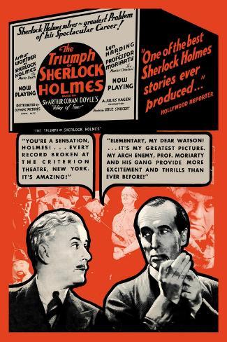Triumph of Sherlock Holmes Wandtattoo