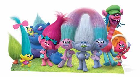 Trolls - True Colours Group Cutout Pappfiguren