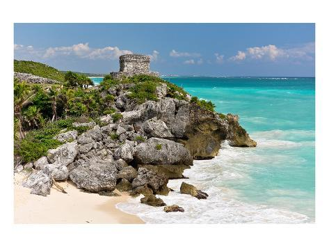 Tulum Mexico Beach Mayan Ruins Kunstdruck