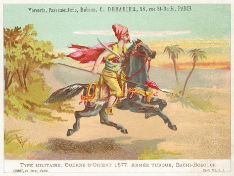 Turkish Bashi-Bazouk, Russo-Turkish War, 1877 Giclée-Druck