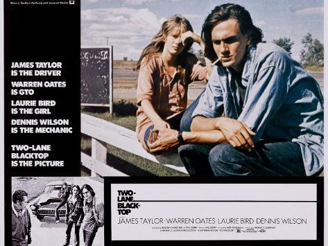 Two-Lane Blacktop, Laurie Bird, James Taylor, 1971 Giclée-Premiumdruck