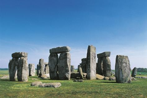 UK, England, Wiltshire County, Megalithic Monument of Stonehenge Giclée-Druck