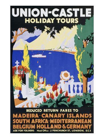 Union-Castle Holiday Tours Giclée-Druck