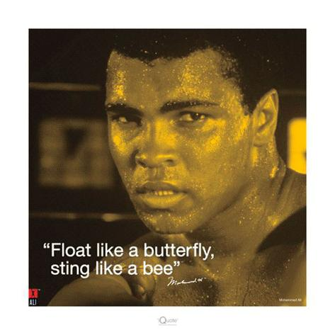 Muhammad Ali – Butterfly Kunstdruck