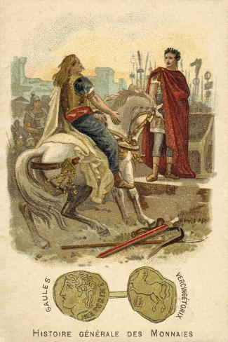 Vercingetorix Submitting to Julius Caesar, 52 BC Giclée-Druck
