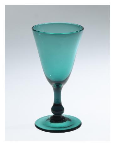 verre conique sur pied bleu vert gicl edruk bij. Black Bedroom Furniture Sets. Home Design Ideas
