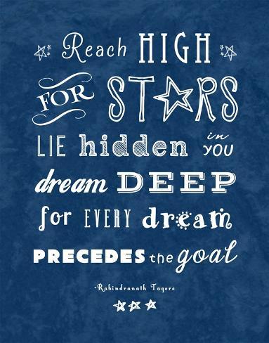 Reach High For Starts Kunstdruck
