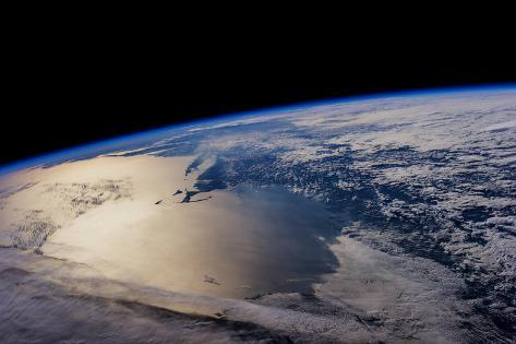 View of planet Earth from space showing North America near Nova Scotia, Canada Fotografie-Druck