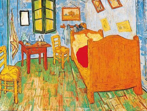 Slaapkamer in Arles, ca.1887 Kunst van Vincent van Gogh bij ...