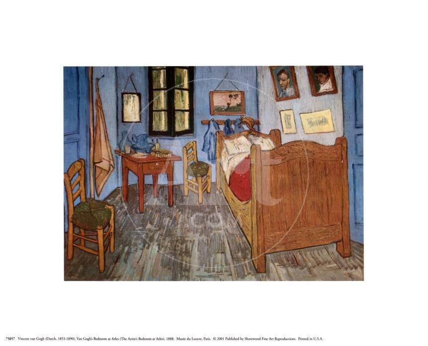 Slaapkamer in Arles, ca.1887 Schilderij van Vincent van Gogh bij ...