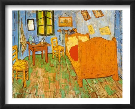 Slaapkamer in Arles, ca.1887 Schilderijen van Vincent van Gogh bij ...