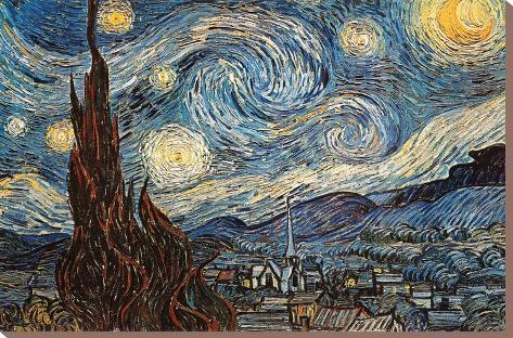 sterrennacht ca 1889 kunst op gespannen canvas